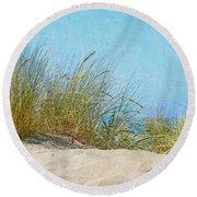 Ocean Beach Dunes Round Beach Towel