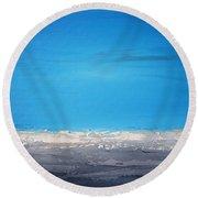 Ocean Blue 1 Round Beach Towel