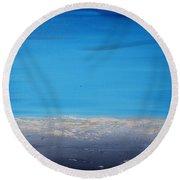 Ocean Blue 2 Round Beach Towel