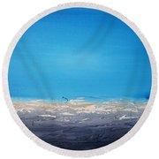 Ocean Blue 4 Round Beach Towel