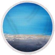 Ocean Blue 5 Round Beach Towel