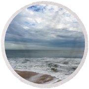 Ocean Blue Round Beach Towel