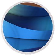 Round Beach Towel featuring the photograph Ocean Breeze by Paul Wear