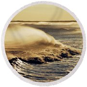 Ocean Calm Round Beach Towel by Elsa Marie Santoro