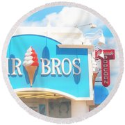 Ocean City Nj Kohr Bros Johnson Popcorn Round Beach Towel