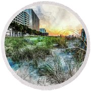 Ocean Drive Easter Sunrise Round Beach Towel