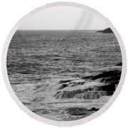 Round Beach Towel featuring the photograph Ocean Drive by Greg DeBeck