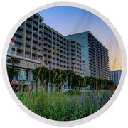 Ocean Drive Sunrise North Myrtle Beach Round Beach Towel