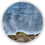 Round Beach Towel featuring the photograph Ocean Edge by Jerry Sodorff