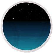 Ocean - Elements - Starry Night Round Beach Towel
