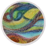 Ocean Flow Round Beach Towel
