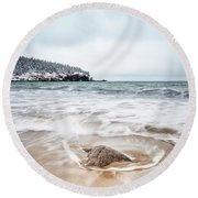 Ocean Flows Round Beach Towel