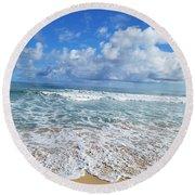 Ocean Foam Round Beach Towel