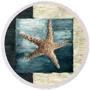 Ocean Gem Round Beach Towel by Lourry Legarde