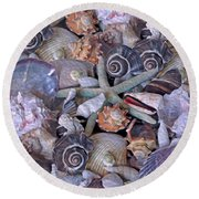 Ocean Gems 11 Round Beach Towel by Lynda Lehmann