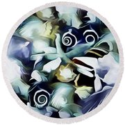 Ocean Gems 21 Round Beach Towel