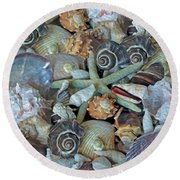 Ocean Gems 5 Round Beach Towel