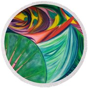 Ocean Graffiti Round Beach Towel