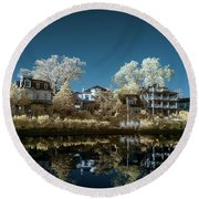 Ocean Grove Nj Round Beach Towel by Paul Seymour