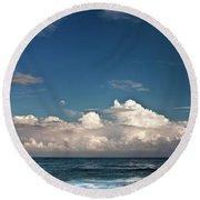 Ocean Horizon Round Beach Towel