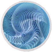 Round Beach Towel featuring the digital art Ocean II by Visual Artist Frank Bonilla