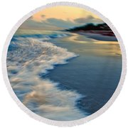 Ocean In Motion Round Beach Towel