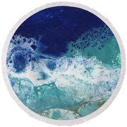 Round Beach Towel featuring the painting Ocean by Jamie Frier