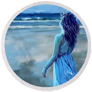 Ocean Longing Round Beach Towel by Tim Gilliland