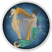 Ocean Lullaby3 Round Beach Towel