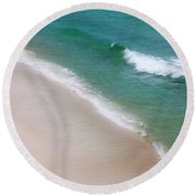 Round Beach Towel featuring the photograph Ocean Movement by Toni Hopper