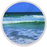 Ocean Ocean Round Beach Towel