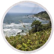 Ocean Overlook Round Beach Towel by Melany Sarafis