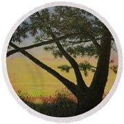 Ocean Pines Round Beach Towel by Kathleen McDermott