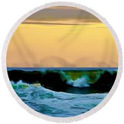 Ocean Power Round Beach Towel