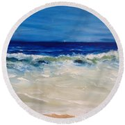 Ocean Roar Round Beach Towel