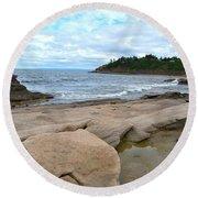 Ocean Rocks - Nova Scotia Round Beach Towel