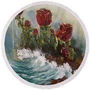 Ocean Rose Round Beach Towel