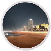 Round Beach Towel featuring the photograph Flow With It by Jim Hill