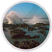 Ocean Spray Round Beach Towel by Billie-Jo Miller