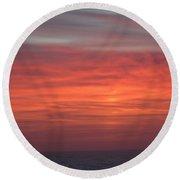 Ocean Sunrise Round Beach Towel by Kathy Long