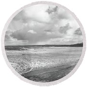 Round Beach Towel featuring the photograph Ocean Texture Study by Nicholas Burningham