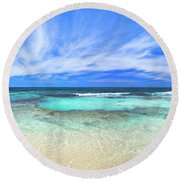 Round Beach Towel featuring the photograph Ocean Tranquility, Yanchep by Dave Catley