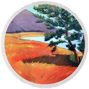 Ocean View Round Beach Towel by Gary Coleman