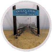 Ocean View Pier Round Beach Towel