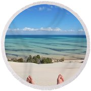 Ocean Views Round Beach Towel