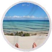 Ocean Views Round Beach Towel