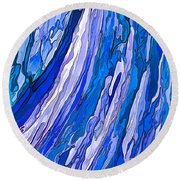 Ocean Wave Round Beach Towel