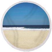 Ocean Waves On The Horizon Round Beach Towel