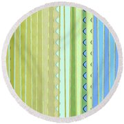 Oceana Stripes Round Beach Towel