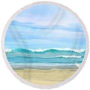Oceanic Landscape Round Beach Towel